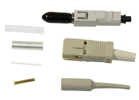 SC Zirconia Ferrule 50/125µm Multimode Connector, AMP LIGHTCRIMP Plus