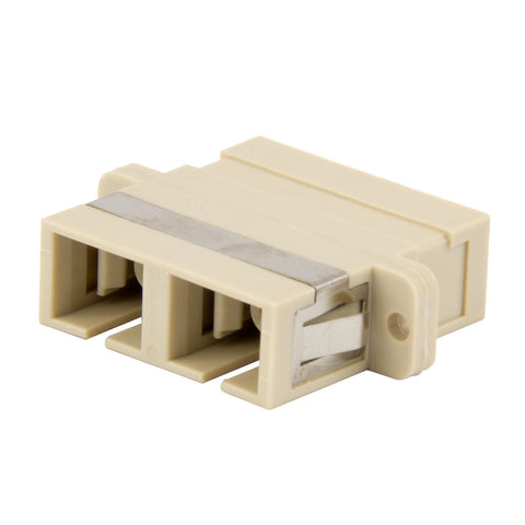 Duplex Multimode SC Mating Sleeve, Polymer Housing, Bronze Sleeve, Beige Color, Mfr 3M
