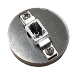 LC/APC Connector Hand Polish Puck - Stainless Steel