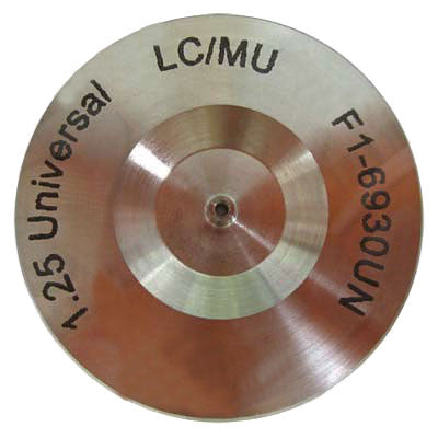 LC/MU Connector Hand Polish Puck - Stainless Steel