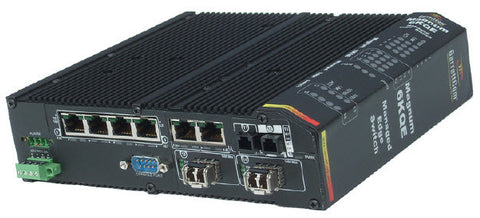 Managed Edge Switch, base unit with 4 10/100 RJ-45 W/ up to 3-100 Mbps Fiber Ports or 4more 10/100 R