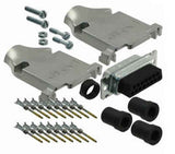 Db15 Male Crimp Kit With Tin Shell Zinc Diecast Hoods Contacts & Hardware RoHS