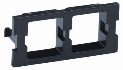 M30 Flexible Faceplate Double Port Adapter Housing, Black.