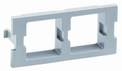 M30 Flexible Faceplate Double Port Adapter Housing, gray.