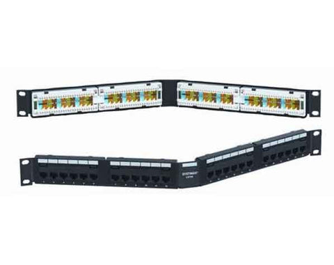 24-Port Cat5e Modular Patch_Panel Angled