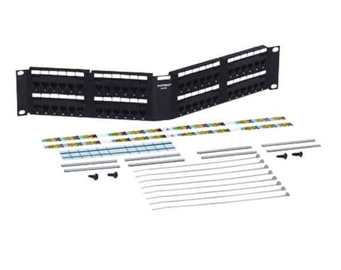 Powersum 1100 Category 5E U/UTP Modular Jack Panel, 48 port angled