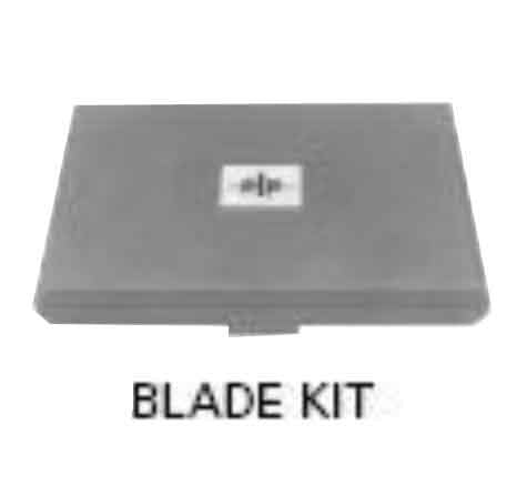 Power end plate cutter and case with standard blade - one kit