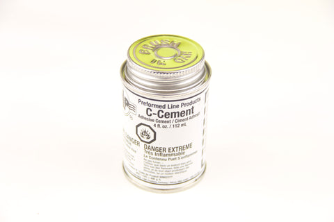 Adhesive C Cement 4 oz Can With Cap-Mounted Brush, Not For Air Shipment