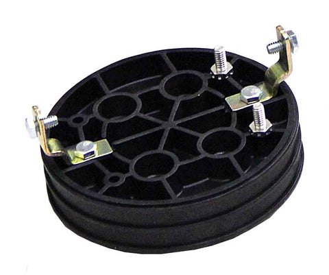 "Three Section Endplate, 4 cable ports for Coyote (2)@1"", (2)@1.25"""