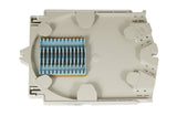 PLP 12 Count Standard Profile Tray with Elastomeric Splice Block - Fusion & Mechanical Splices