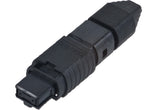 UniCam Standard-Performance Connector, MTP (non-pinned), 50 µm multimode (OM2), 12-fiber black