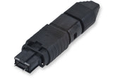 UniCam Standard-Performance Connector, MTP  (pinned), 50 µm multimode (OM2), 12-fiber black housing