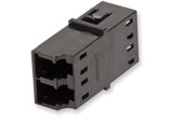Fiber Optic Adapter, LC Duplex, Reduced-Flange Mount, Ceramic Sleeve, 50 nm multimode (OM2), black