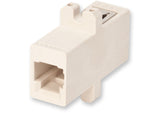 Fiber Optic Adapter, MT-RJ, Full-Flange Mount, 62.5 µm multimode (OM1), beige