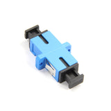 Fiber Optic Adapter, Full-Flange Mount, Metal Sleeve, Blue, SC, Single-mode (OS2)