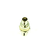 Fiber Optic Adapter, Threaded Mount, Ceramic Sleeve, Beige, ST Compatible, 62.5 µm multimode (OM1)