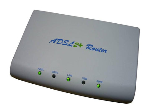 ADSL2 and ADSL2+ Ethernet and USB bridge modem with separate ADSL splitter