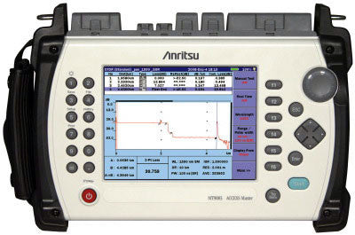 Anritsu MT9083A Single Mode 1310/1550nm 38/36.5dB Deluxe OTDR Kit