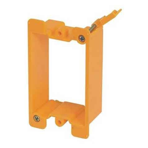 Plastic Cover Plate Mounting Bracket, Single Gang, Orange