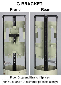 "6"" Diameter Fiber Pedestal with 8 Drop Max Qty, 2 Tray Capacity"
