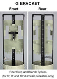 "8"" Diameter Fiber Pedestal with 12 Drop Max Qty, 4 Tray Capacity"