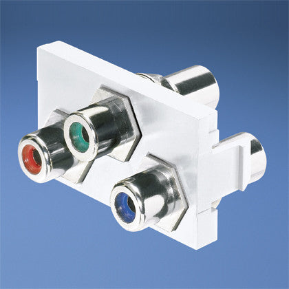 Insert With A/V Modules, White with red, green and blue inserts