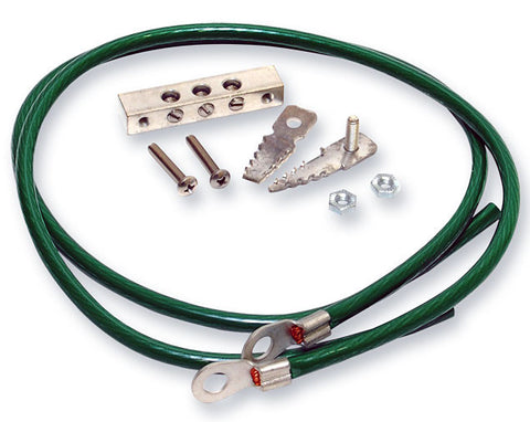 Hardware Grounding Kit, includes Two Wires, One Sheath Ground Clip and One Ground Bus