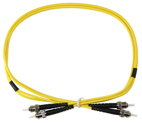 1m ST-ST Duplex 8.3/125µm single mode patch cord, UPC polish