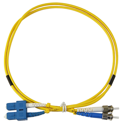 1m ST-SC Duplex 8.3/125µm single mode patch cord, UPC polish