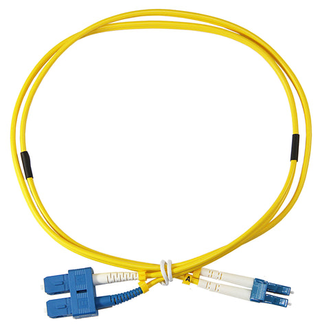 1m LC-SC Duplex 8.3/125µm single mode patch cord, UPC polish