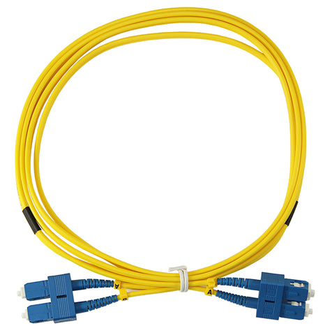 1m SC-SC Duplex 8.3/125µm single mode patch cord, UPC polish