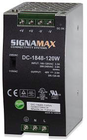 120 Watt extended temperature DIN-rail mount power supply