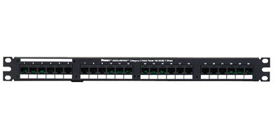 Data-Patch 10/100 Base-T Patch Panels,24-port, 1.72 in