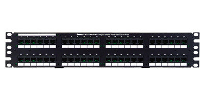 Data-Patch 10/100 Base-T Patch Panels,48-port, 3.47 in