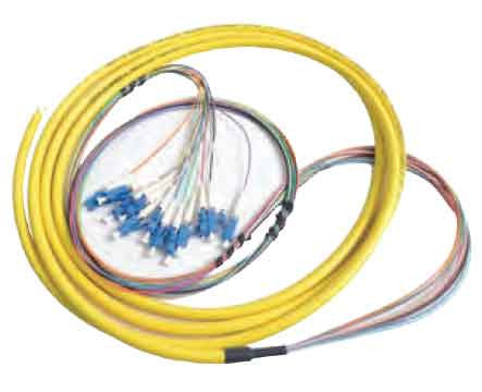 6 Fiber LC/UPC Distribution Style Pigtail,SM, Blue Boots