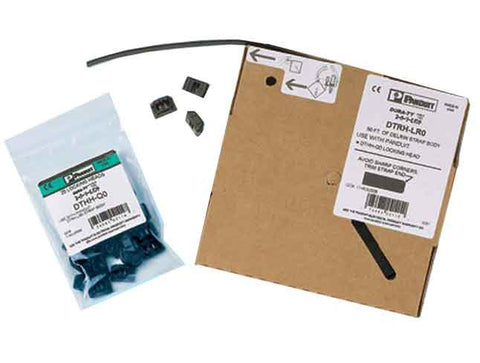 Cable Tie Kit, Acetal, Heavy, 25 DTHH Heads, 50' (15.2m) Roll DTRH