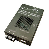 Extended Temperature Fast Ethernet Coverters, 100Base-TX, RJ45 to 100Base-Fx, 1300nm, multimode, SC,