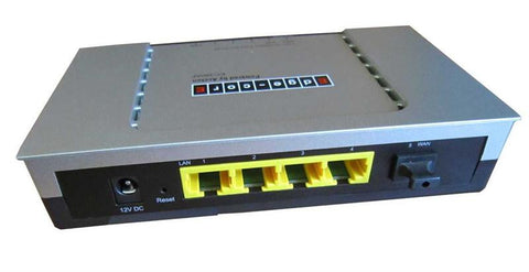 Managed Fiber Gateway w/ 4 port Router and BiDi single strand uplink for FTTH applications