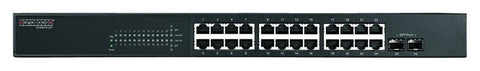 Gigabit Ethernet 24+2 SFP ports, L2 web-smart managed switch, rack 19""