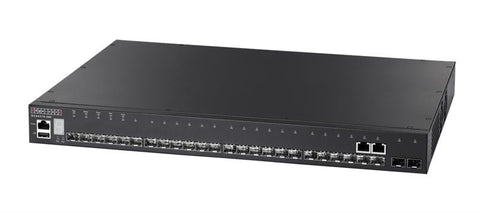 ECS4510-28F - 24 Gigabit SFP ports, 2 10G SFP+ ports, option for extra 2 10G SFP+ ports, Layer 2 managed switch, rack 19""