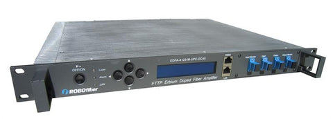 "EDFA-4123 DWDM C-Band EDFA Booster, 23dBm power and 23dB max gain, SNMP managed, 1RU 19"" rack mountable"