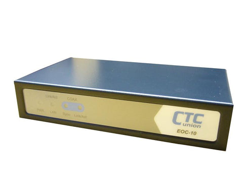 Ethernet over Coax LAN Extender, up to 32 units on a coaxial segment, shares cable with CATV signal