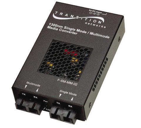 Single-mode to Multimode Standalone Coverters, 850nm, MM, ST 2 km to 1310 nm,SM, ST