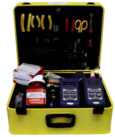 Single Mode Test Set Tool Kit w/ CATV Power Meter & SC/APC Light Source