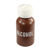 Menda Brown plastic Alcohol Bottle with Lasting-Touch pump and White Lid, 8 oz.