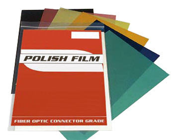 "Polish film sold in packs of 25 sheets (Alum. Oxide, Grit 12µm) 9"" X 13"", Dark Yellow"