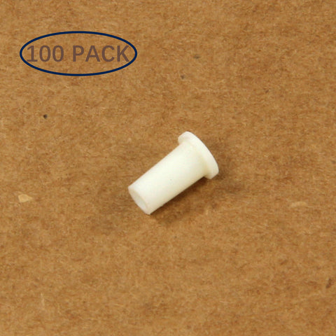 Plastic Universal Dust Cap for 1.25mm Ferrules. Fits LC, MU. 100 pcs/pack, White Color