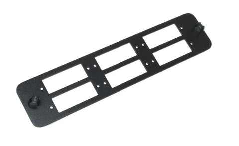 Universal Mounting Black Bracket Adapter Panel For 6 Duplex SC/  Quad LC connectors ( Unloaded)