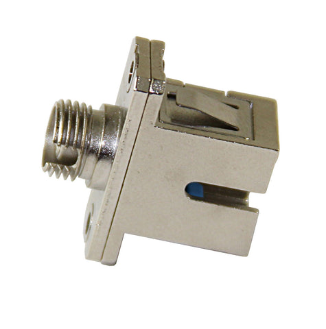 SC/APC - FC/APC (female-female) Adapter, Flanged 2 Mounting Holes