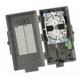 Leviton Fiber Optic Network Interface Device NID houses 12 splices and/or 2 SC/APC terminations